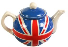 Union Jack hand painted teapot