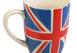 Union Jack hand painted mug