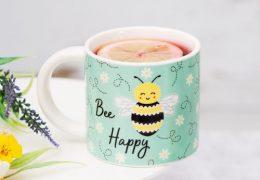 Queen Bee Happy Mug