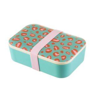 Leopard Love Bamboo Lunch Box