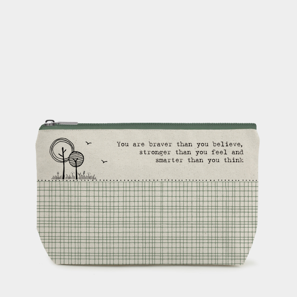 You Are Braver Cosmetic Bag by East of India