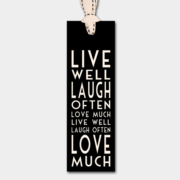 Bookmark-Live well, laugh often