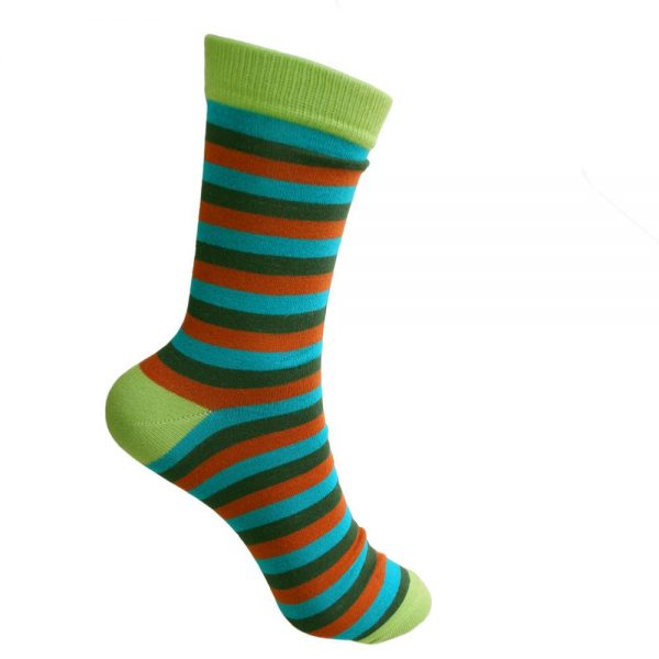 Fair Trade Bamboo Socks -Stripes