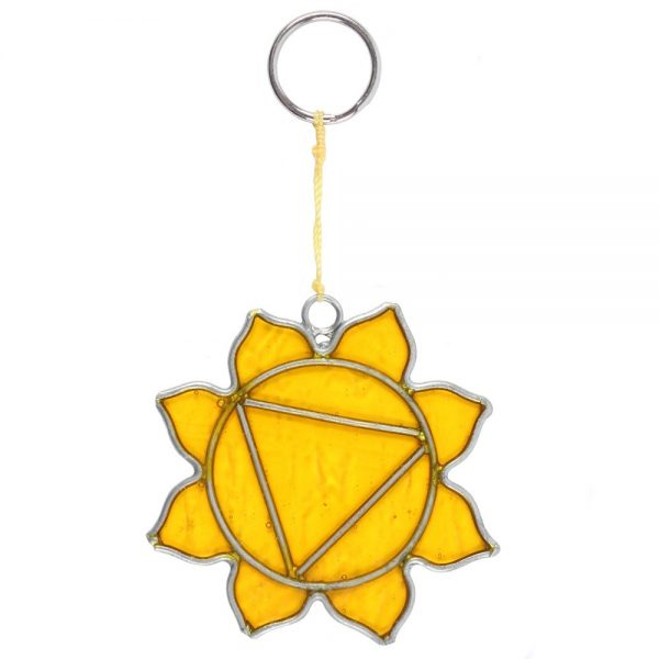 Solar Plexus Chakra Symbol Mini Suncatcher