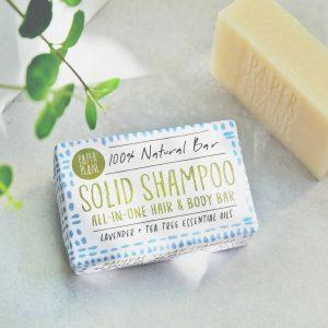 Lavender and Tea Tree 100% Natural Vegan Plastic-free Solid Shampoo