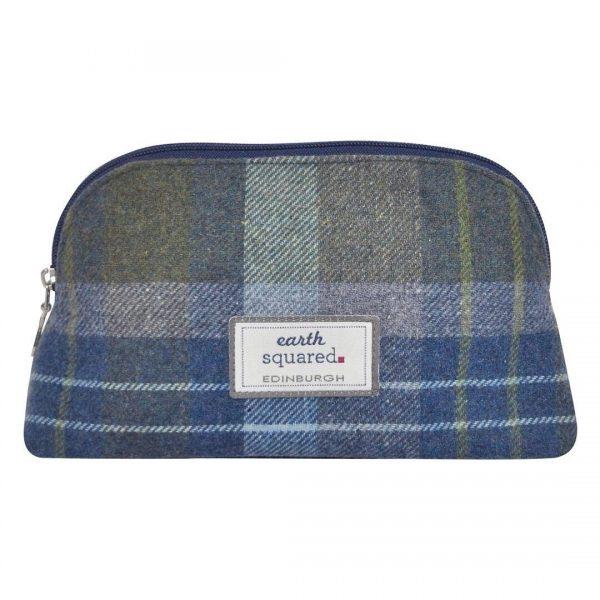 Tweed Make Up Bag (Coastal Blue) Fair Trade