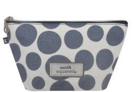 BLUE SPOT OIL CLOTH MAKE UP BAG