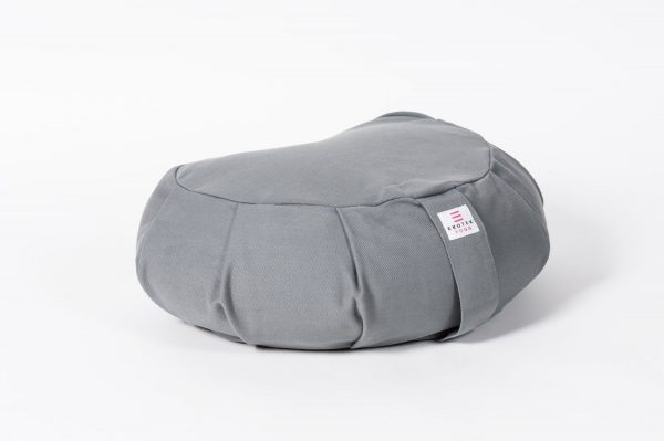 Organic Cotton Crescent Meditation Cushions Grey