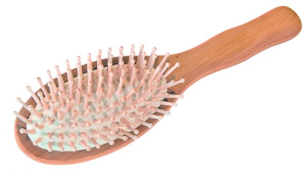 Croll & Denecke Wooden Oval Hair Brush with wooden pins