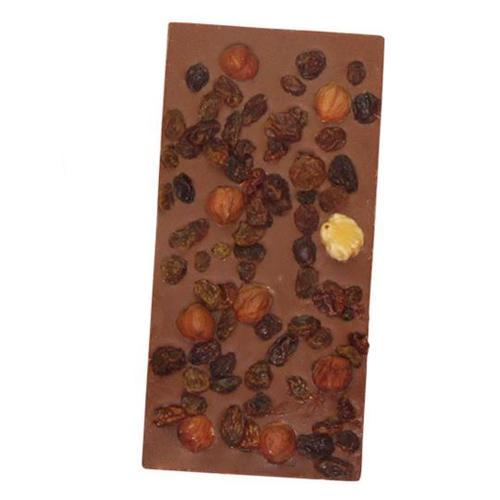 Milk Chocolate Fruit and Nut Bar, Organic, Cocoa Loco (100g)