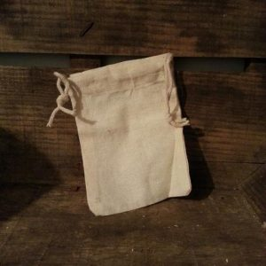 Small Muslin Wash Bag Living Naturally Soapnuts