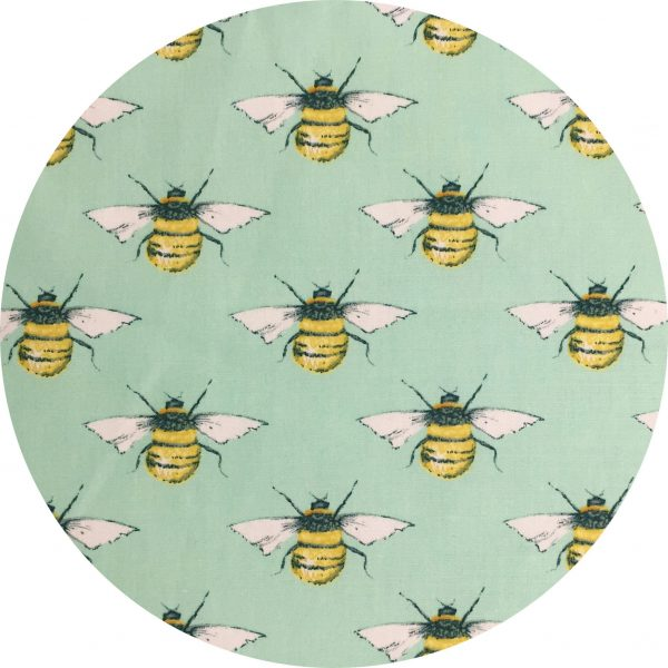 Biodegradable Face Mask by Tabitha Eve. Mint Bee Pattern