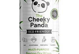 Cheeky Panda Plastic Free Biodegradable Bamboo Dry Wipe, 100 Wipes