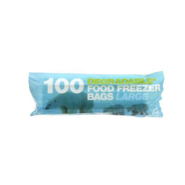 D2w Degradable Large Freezer Bags - 50 x 100 bag
