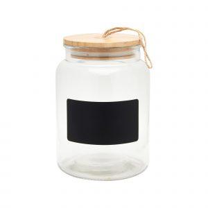 GLASS CHALKBOARD STORAGE JAR
