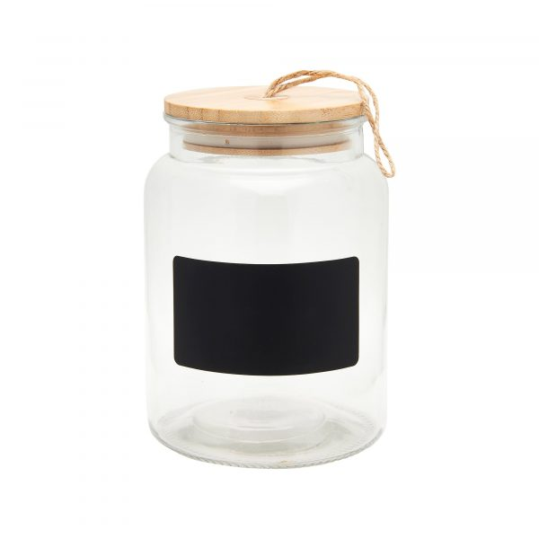 GLASS CHALKBOARD STORAGE JAR