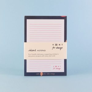 Vent for Change Ideas-Note-pad_A5-Blue-7541