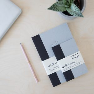 Vent for Change WRITE Sustainable Notebook-A5-A6-BLACK