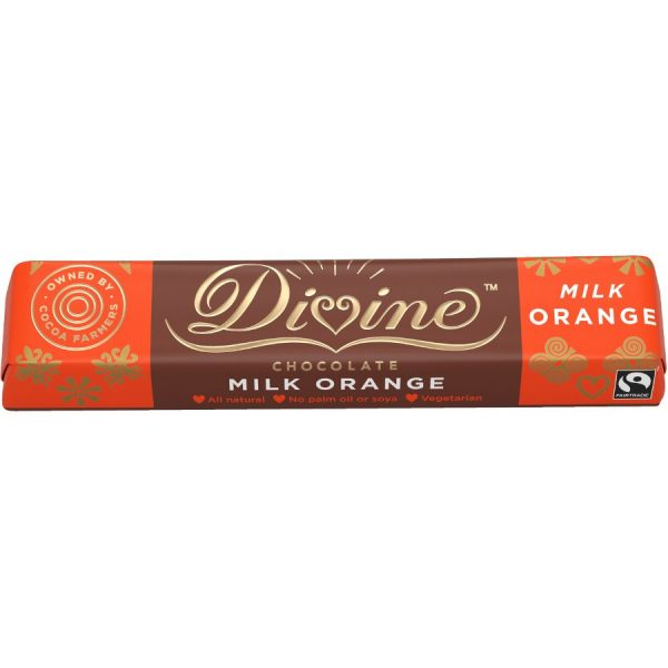 Divine Orange Milk Chocolate Bars (3 x 35g bars)