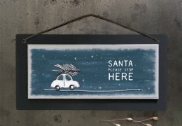 Christmas sign-Santa please stop here