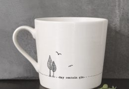 Wobbly mug-May contain gin